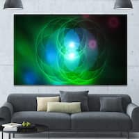 Designart 'Merge Colored Spheres.' Abstract Canvas Art Print