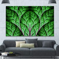 Designart 'Exotic Green Biological Organism' Abstract Art on Canvas