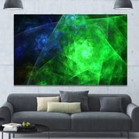 Designart 'Green Rotating Polyhedron' Extra Large Canvas Art Print