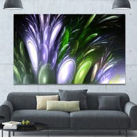 Designart 'Mysterious Psychedelic Flower'Extra Large Abstract Canvas Art Print