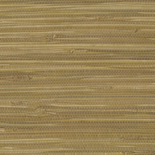 Brown Grass Grasscloth Wallpaper