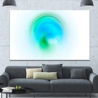 Designart 'Green Luminous Misty Sphere' Extra Large Abstract Canvas Art Print
