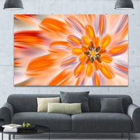 Designart 'Dance of Fractal Yellow Petals' Extra Large Abstract Canvas Art Print Canvas