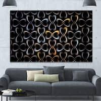 Designart 'Yellow Pattern of Butterflies' Abstract Wall Art on Canvas