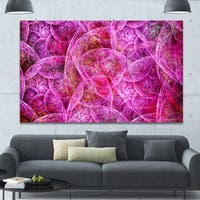 Designart 'Pink Fractal Dramatic Clouds' Abstract Canvas Wall Art