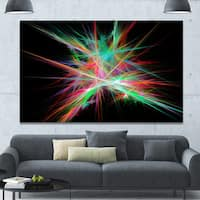 Designart 'Green Red Spectrum of Light' Extra Large Abstract Canvas Art Print