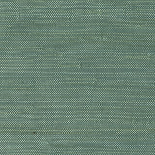 Teal Jute Grasscloth Wallpaper
