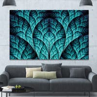 Designart 'Blue Exotic Biological Organism' Abstract Artwork on Canvas