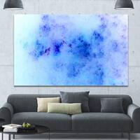 Designart 'Light Blue Starry Fractal Sky' Abstract Wall Artwork