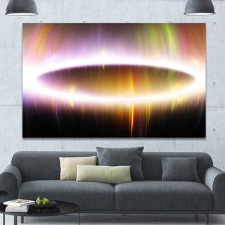 Designart 'Large Oval of Northern Lights' Abstract Art on Canvas