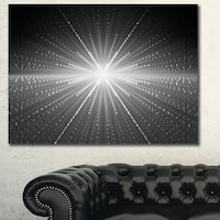 Designart 'Glowing Star in Cosmic Galaxy'Extra Large Abstract Canvas Art Print