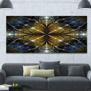 Link to Designart 'Digital Gold Fractal Flower Pattern' Abstract Wall Art Canvas Similar Items in Glass Wall Art