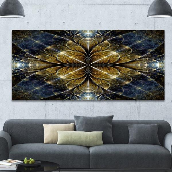 Designart 'Digital Gold Fractal Flower Pattern' Abstract Wall Art Canvas. Opens flyout.