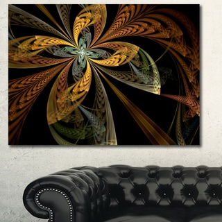 Designart 'Colorful Fractal Flower Pattern' Abstract Canvas Art Print - Multi