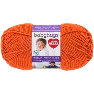 Red Heart Baby Hugs Medium-Orangie