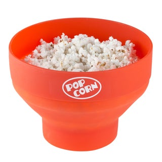 Microwave Popcorn Popper Bowl  healthy way to pop without oil in a collapsible bowl by Chef Buddy