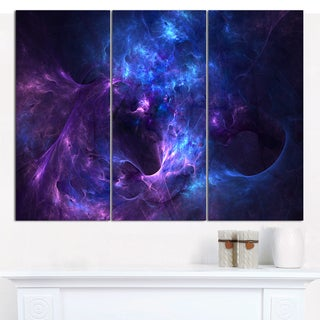 Designart 'New Galaxy with Nebel' Multipanel Landscape Canvas Art Print - 3 Panels 36x28