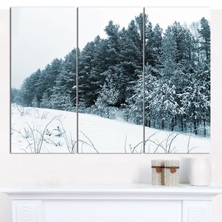 Designart 'Dark Winter Trees' Multipanel Landscape Canvas Art Print - 3 Panels 36x28