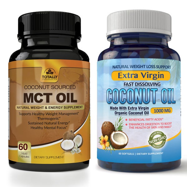 Shop Totally Products Premium MCT OIL 3000mg and Coconut Oil