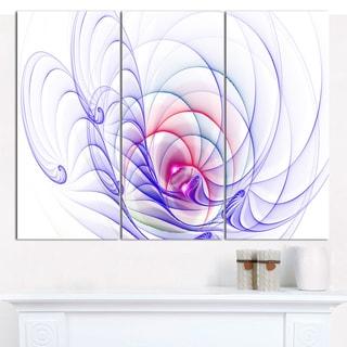 "Designart '3D Blue Surreal Illustration' Abstract Wall Art Canvas - 36""x28"" 3 Panels"