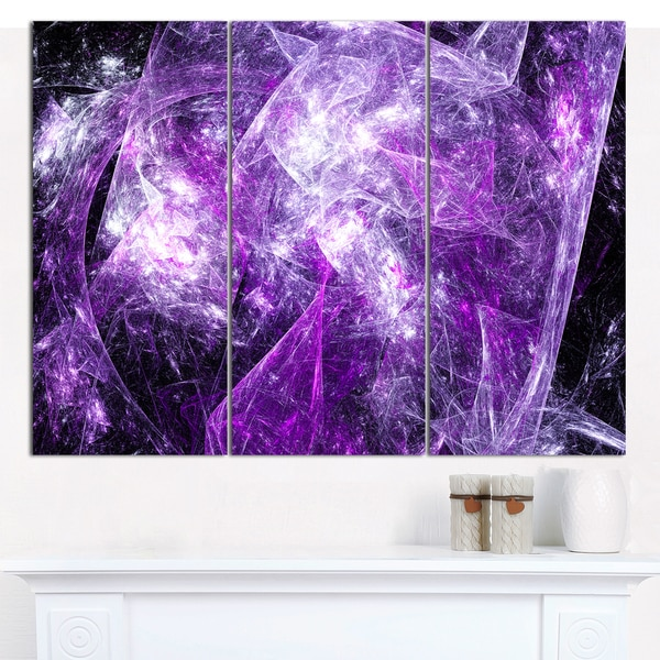 Designart \'Mystic Purple Fractal Wallpaper\' Abstract Wall Art Canvas ...