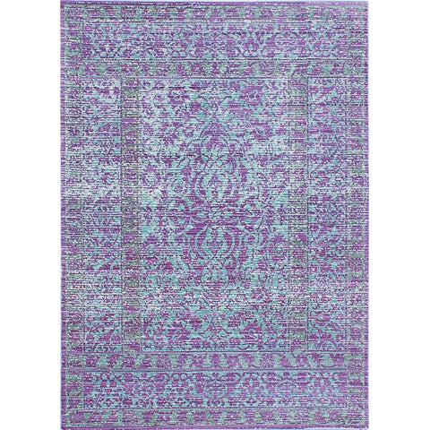 EcarpetGallery Aqua Silk Blue/Purple Rug
