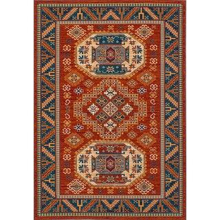 eCarpetGallery Handmade Terra Kazak Brown Wool Rug (5'6 x 8')
