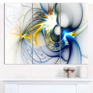 "Designart 'Shining Multi-Colored Plasma' Abstract Wall Art Canvas - 3 Panels 36""x28"""
