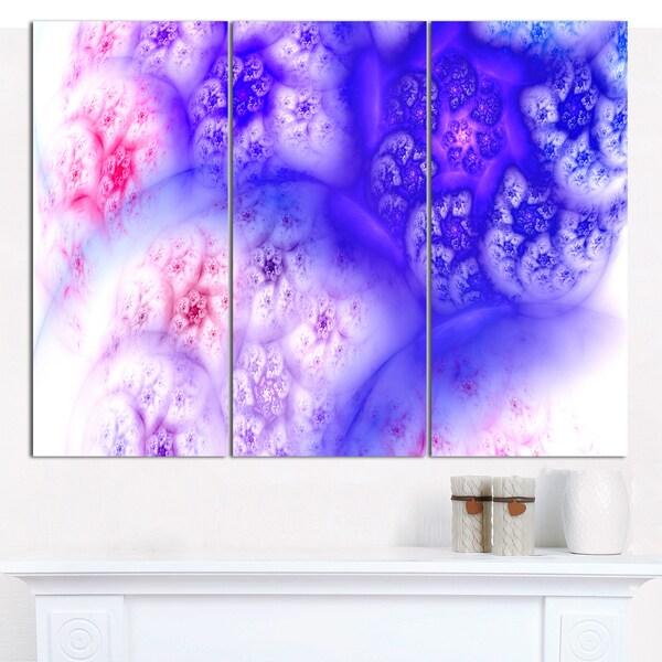 "Designart 'Light Blue Magic Stormy Sky' Abstract Canvas Art Print - 3 Panels 36""x28"""