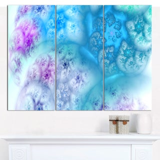 "Designart 'Clear Blue Magic Stormy Sky' Abstract Canvas Art Print - 3 Panels 36""x28"""