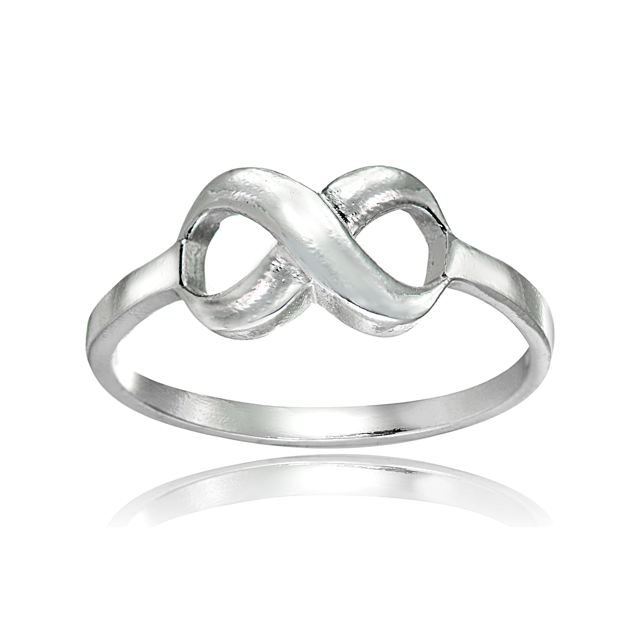 Mondevio Sterling Silver High Polished Infinity Ring (Gol...