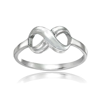 Mondevio Sterling Silver High Polished Infinity Ring