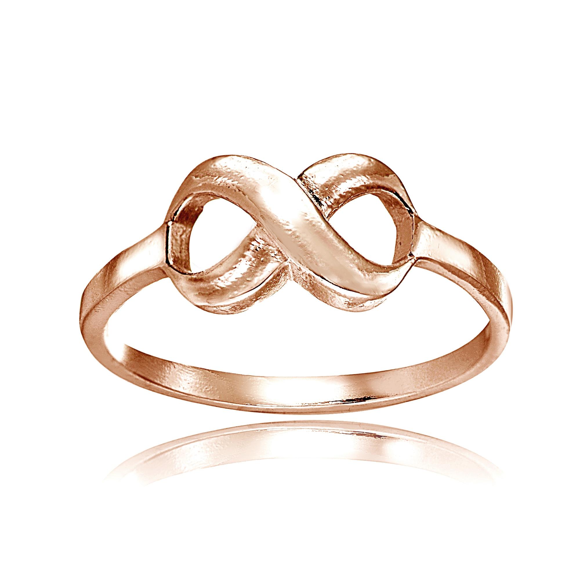 Mondevio 18k Rose Gold Over Sterling Silver High Polished...