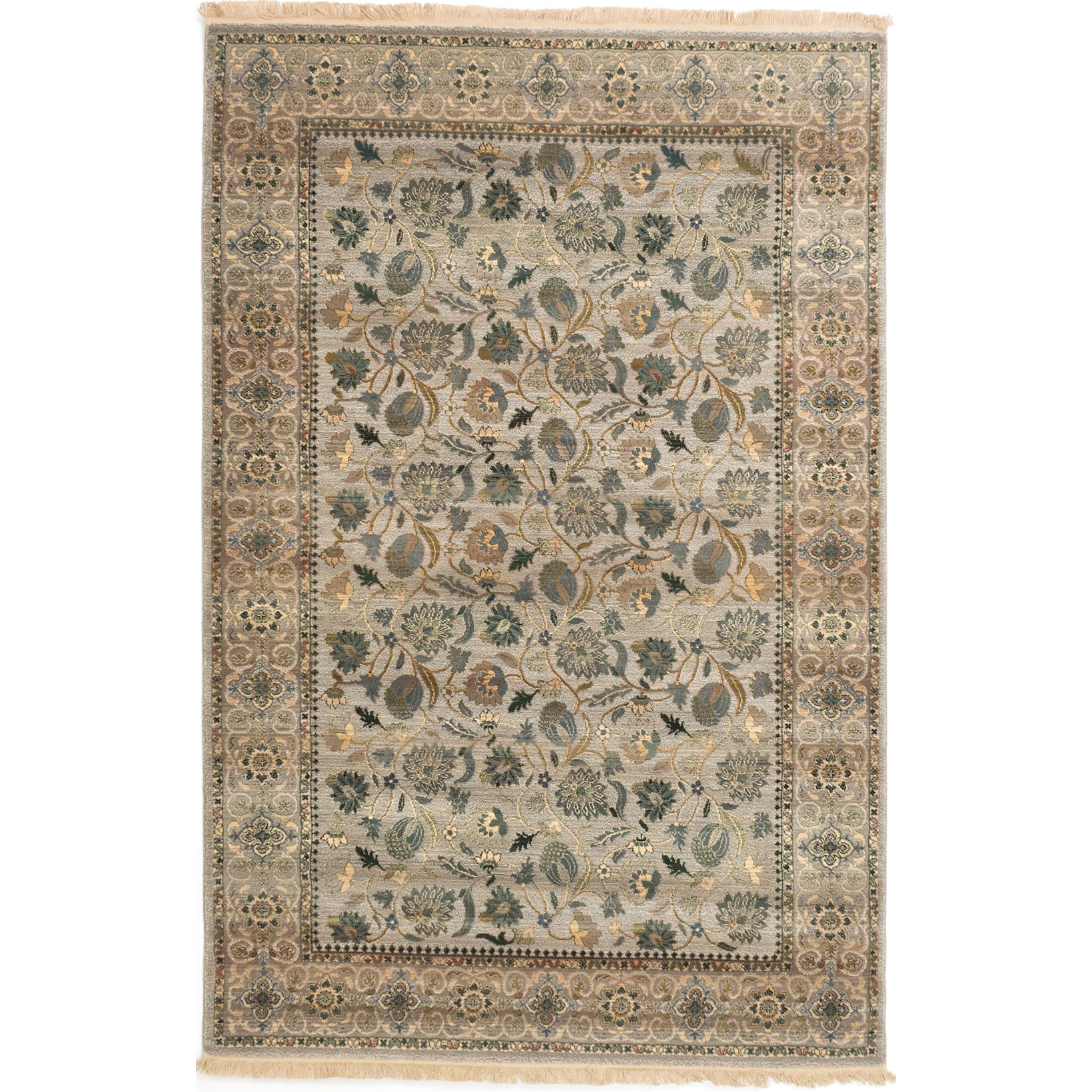 Ecarpetgallery Tekke Bokhara Grey Handmade Rug (5'4x8') (...