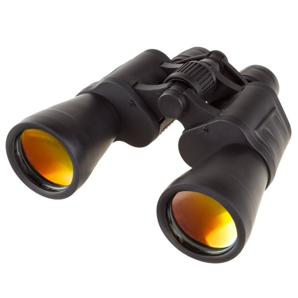 Wide View Binoculars - Low Light Field Glasses with 7x Magnification 1000 Range by Wakeman Outdoors