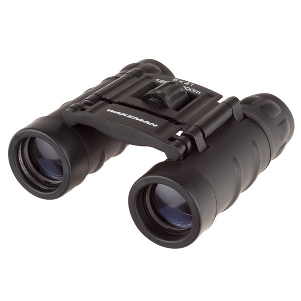 8x21 Binoculars Pocket Sized Folding Adjustable Focus for Sport and Field by Wakeman Outdoors
