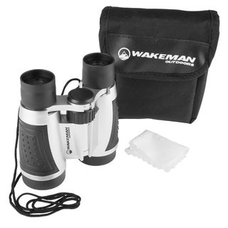 Compact Binoculars- Field Glasses with 5x Vision Magnification and Adjustable Focus by Wakeman Outdoors