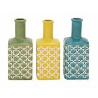 Oliver & James Buri Ceramic Patterned Vase (Set of 3)