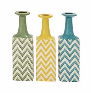 Ceramic Stripe Vase (Pack of 3)
