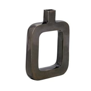 Black Nickel Aluminum Vase