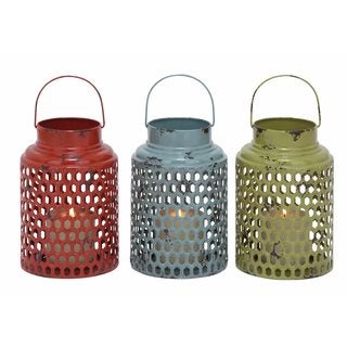 Metal Candleholders (Pack of 3)