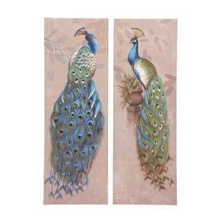 Canvas Peacock Wall Art (Set of 2)