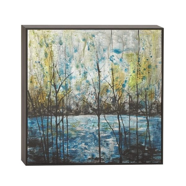 'Modern Reflections' Framed Aluminum Wall Art