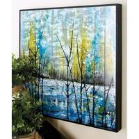 'Modern Reflections' Framed Aluminum Wall Art