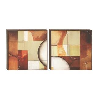 Multicolored Framed Canvas Artwork (Set of 2)