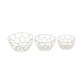 Silver Metal Bowls 3-piece Set