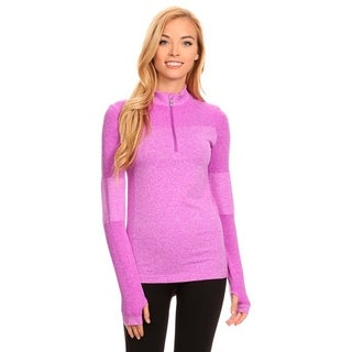 Active Living Purple Ultra-light-weight Seamless Pull-over Top
