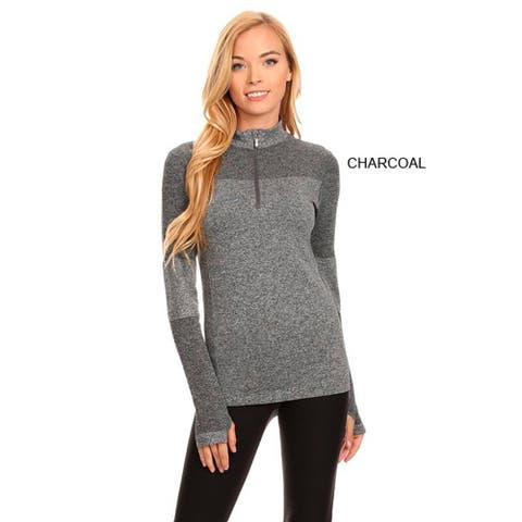 Active Living Grey Ultra-lightweight Seamless Pull-over Top