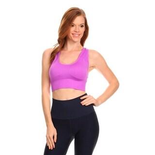 Women's Purple Lightweight Sports Support Bra