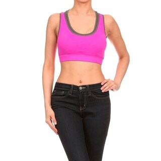 Women's Performance-style Double-layer Insert Seamless Sports Bra